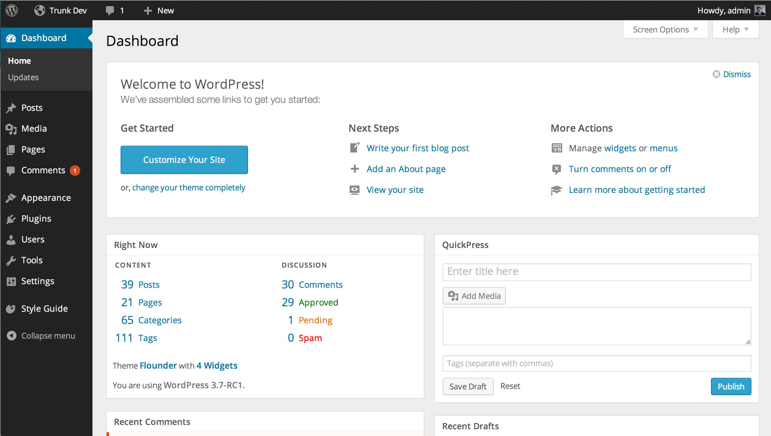 wordpress-admin-panel